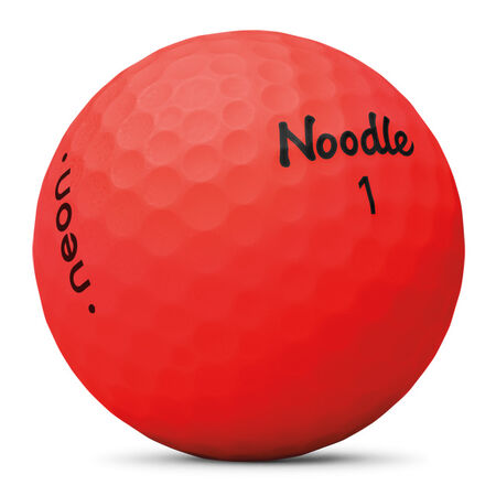 Balles Noodle Neon Matte Red Golf Balls