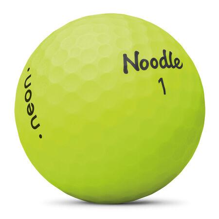 Balles Noodle Neon Matte Lime Green Golf Balls